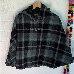 Last Kiss Poncho Wool Jacket sz M